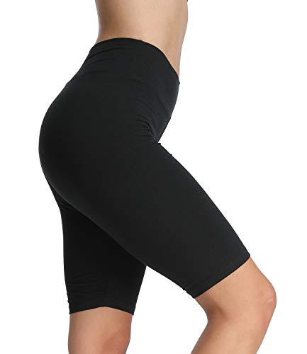 4How Kurze Leggings Sporthose Sport Shorts Schwarz Jogginghose Sommerlegging Damen 1/2 Tights Radlerhose Fitness Yoga Gym Shorts,XL