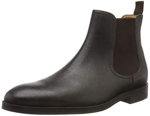 Clarks Herren Oliver Top Chelsea Boots, Braun (Dark Brown Lea Dark Brown Lea), 42 EU
