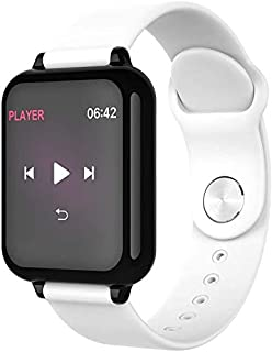 WJFQ Reloj Inteligente Impermeable Inteligente Reloj Pulsera Pulsera de Rastreador de Fitness con monitores de presión Arterial de oxígeno del Contador de Paso con iOS Android Hombres Mujeres