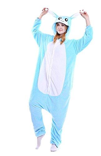 Venaster Pyjamas Junge Blau Hase Erwachsene Unisex Animal Cosplay Overall Pajamas Anime Schlafanzug Jumpsuits Spielanzug Kostüme