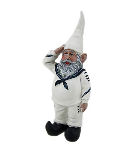 Zeckos 8 inch Shipmate Sal United States Navy Military Small Gnome Statue or Home Decor Figurine