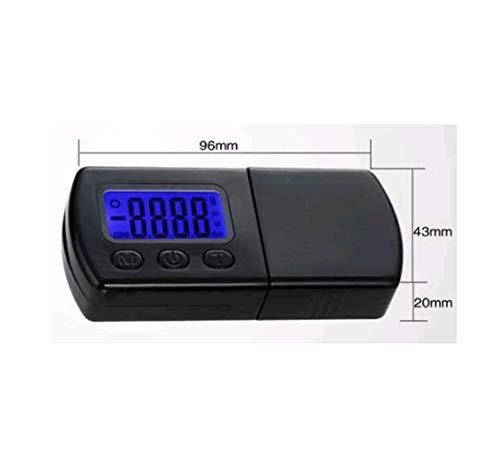Zerone Digitaler Plattenspieler Stylus Force Scale Gauge LCD Hintergrundbeleuchtung 0,01 g / 5 g