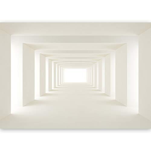 murando - Fototapete XXL 3D Effekt 500x280 cm Vlies Tapeten Wandtapete XXL Moderne Wanddeko Design Wand Dekoration Wohnzimmer Schlafzimmer Büro Flur Tunnel Abstrakt Architektur a-B-0036-a-b