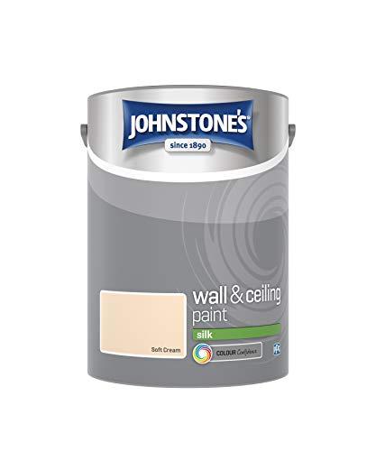 Johnstone 's 304088Vinyl Silk Emulsion–Weich Cremefarben, 5