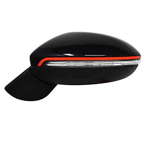 Spiegelstroken spiegel sticker folie strepen decor buitenspiegel auto achteruitkijkspiegel Lines (D024) neonrood