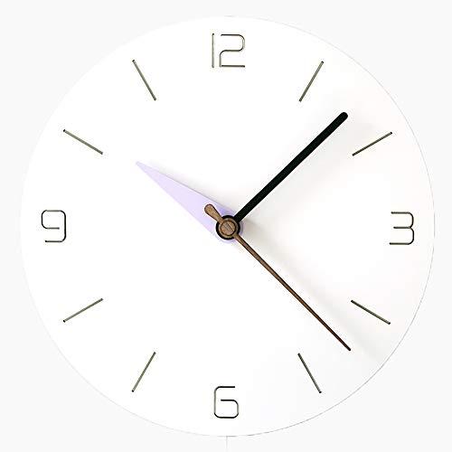 Everyday home Moderne rond horloge murale personnalité de l'art muet silencieux ultra-précision décoration de la maison verte chambre cuisine salon café bureau 12 pouces / 14 pouces