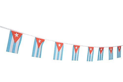 Kind Girl Cuba Flag Cuban Flag,100Feet/76Pcs National Country World Pennant Flags Banner,Party Decorations Supplies for Olympics,Bar,Indoor and Outdoor Flags,International Festival