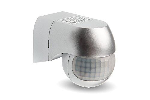 HUBER Motion 3 Slim, Bewegungsmelder 180°, Silber, horizontal und vertikal einstellbar, energieeffizient