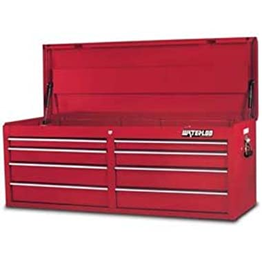 Waterloo PCH-528RD Professional Series 8-Drawer Tool Chest, Red Finish, 52  W