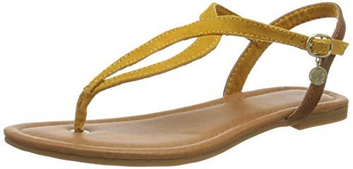 s.Oliver 5-5-28127-26 601, Sandale Plate Femme, Saffron, 39 EU