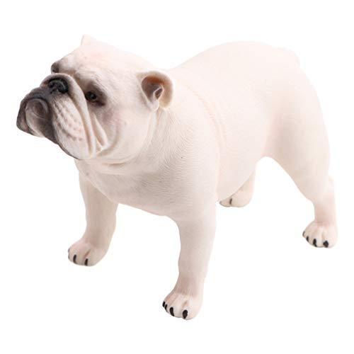 NUOBESTY Bulldog Figurine PVC Dog Figure Table Desk Animal Collectible Statue Decorative Party Animal Model Favor (Standing Bulldog)