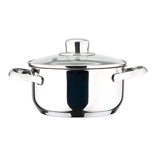 MAGEFESA Dux – La Familia de Productos MAGEFESA Dux está Fabricada en Acero Inoxidable 18/10, Compatible con Todo Tipo de Fuego. Fácil Limpieza y Apta lavavajillas. (Cacerola, 20_cm)