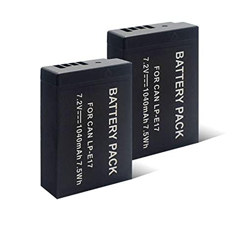 Jdttngp Batterie Ai Polimeri di Litio da 7.2v 1040Mah LP-E17, Batteria Ricaricabile Adatta per Fotocamera 1pc