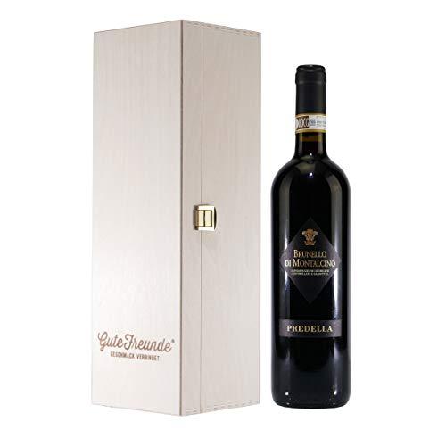 Predella Brunello Di Montalcino DOCG Rotwein mit Geschenk-Holzkiste