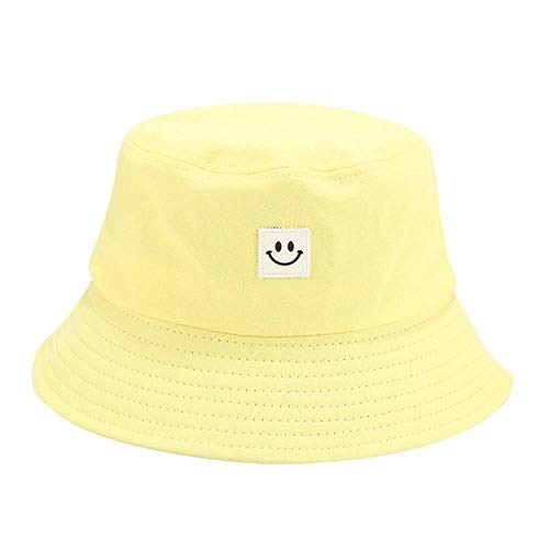 N/A Gorro Pescador Bucket Hat Unisex Adulto Mujeres Hombres Sonrisa Imprimir Sombrero De Pescador Sombrero Protector Solar Al Aire Libre Sombrero