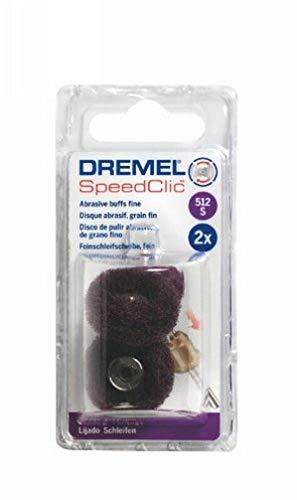 Dremel 512S EZ SpeedClic Feinschleifscheiben - Zubehörsatz für Multifunktionswerkzeug mit 2 Feinschleifscheiben Körnung 320 25mm zum Schleifen von Metall, Kunststoff, Stahl, Holz u.v.m