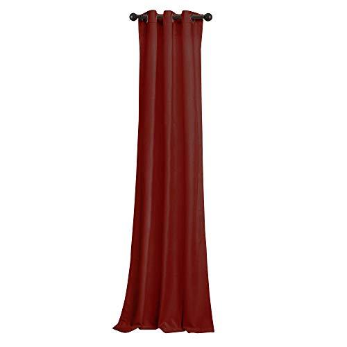 BRIGHTLINEN Vintage 100% Velvet 50 by 72 inches Thick Blackout Elegant Ring Top Eyelet Velvet Curtains Burgundy