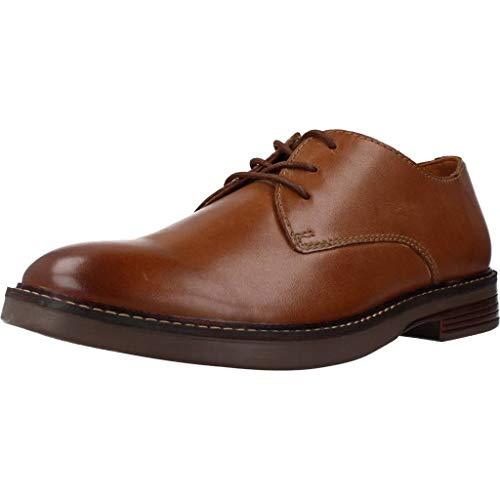 Clarks Paulson Plain, Zapatos de Cordones Derby Hombre, Piel marrón, 42 EU
