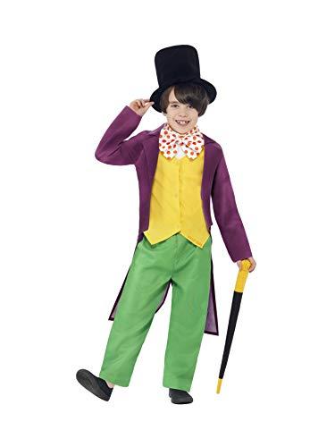 SMIFFYS Willy Wonka - Roald Dahl - Costume Bambini - Medium - 143Cm- 7-9 Anni