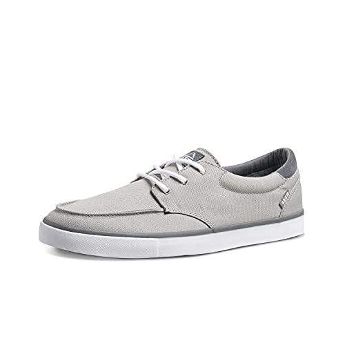 Reef Men's Deckhand 3 Sneaker, Grey/White, 12