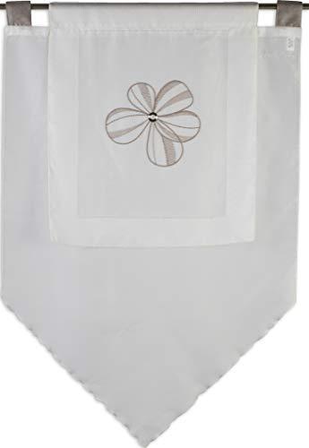 Startex Enveloppe, Polyester, Blanc/Marron, 90 x 90 cm