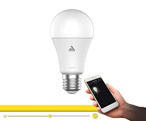EGLO connect LED E27 Lampe, Smart Home Glühbirne, LED Lampe dimmbar, 9 Watt (entspricht 60 Watt), 806 Lumen, E27 LED warmweiß, 3000 Kelvin, LED Leuchtmittel A60, Ø 6 cm