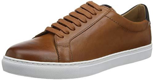 H by Hudson ALCESTER Leather, Zapatillas para Hombre, Marrón Bronceado 24, 46 EU