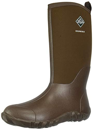Muck Boot Men's Edgewater ll Multi-Purpose Tall Rubber Boots, Chocolate Brown,  8 D(M) US