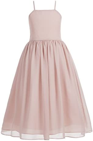 Criss Cross Chiffon Formal Flower Girl Dresses Junior Bridesmaid Dress 191 8 Blush Pink product image
