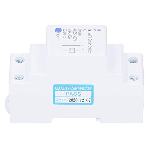 Interruptor temporizador de control remoto de medidor inteligente WiFi, paquete de 1 para controlar la iluminación del hogar u oficina, etc.