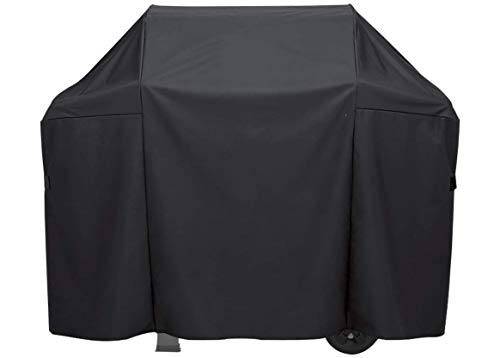 Comp Bind Technology Grill Cover Compatible with Char Broil Deluxe Gas & Charcoal Combo Grill Model 463724514 Outdoor and Waterproof Marine Black Cover Dimensions 74.2''W x 27.9''D x 46''H