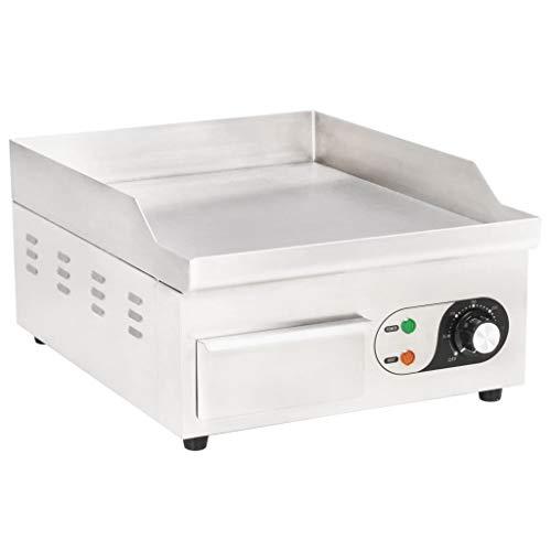 vidaXL Plancha Eléctrica de Cocina Acero Inoxidable 2000 W 36x47x22 cm Comida