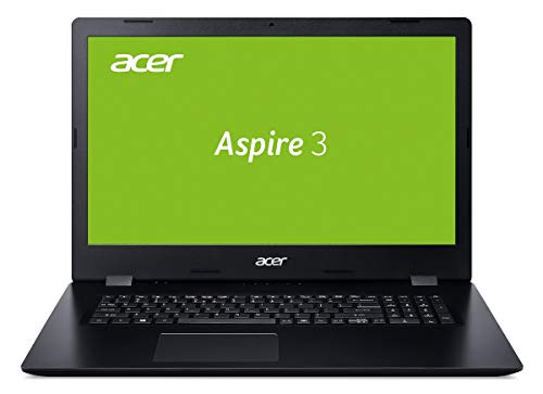 Acer Aspire 3 (A317-32-P62H) 43,9 cm (17,3 Zoll HD+) Multimedia Notebook (Intel Pentium N5000, 8 GB RAM, 256 GB PCIe SSD, Intel UHD, Win 10 Home) schwarz