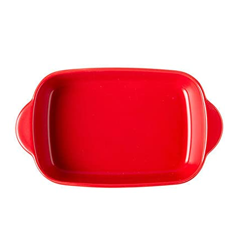 1 Piece Nordic Bakeware Binaural Baked Rice Bowl Baking Sheets Nonstick Oven Nonstick 9.5 Inches Red