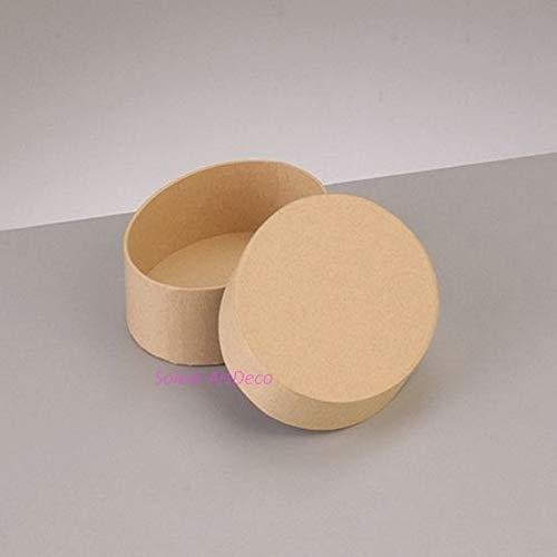 Lealoo kleine doos, ovaal, hoog, 8,5 x 6,5 cm x hoogte 5 cm met deksel van karton, om te versieren