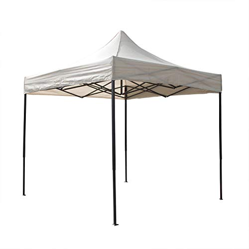 AIRWAVE Gazebo Four Seasons Essential Pop Up with No Sides Waterproof 3 x 3m (Beige)