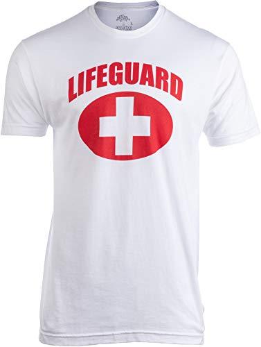 Lifeguard | White Lifeguarding Unisex Uniform Costume T-Shirt for Men Women - M