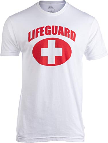 Lifeguard | White Lifeguarding Unisex Uniform Costume T-Shirt for Men Women - M