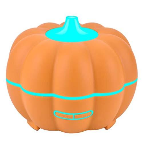 Halloween pompoen houtnerf aroma luchtbevochtiger belangrijkste aromatherapie machine van de essentiële olie, met 7 LED nachtverlichting en vier timers.400 ml, for de slaapkamer, kantoor, yoga en spa