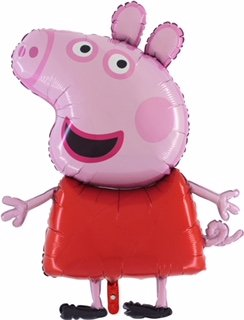 Peppa Pig Globo Gigante de Papel tamaño Gigante de 37 Pulgadas - Globos Festivos para niños