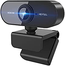 1080P Webcam with Microphone, [2021 Upgraded] Business Web Camera Streaming Computer Web Cam for PC Desktop & Laptop,Wide Angle USB Webcam Plug and Play,for Video Calling Recording Conferencing