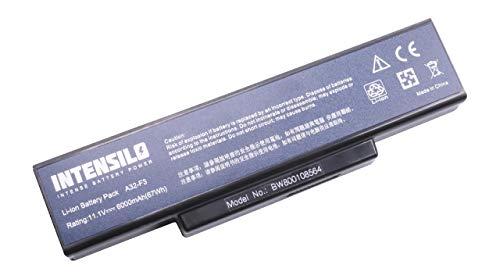INTENSILO Li-Ion Akku 6000mAh (10.8V) für Notebook Laptop Targa Tarveller 1576, 1577, 1591, 836W-MT34 wie A32-F2, 261750, 916C5280F u.a.