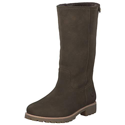 Panama Jack Damen Winterstiefel Bambina Igloo,Frauen Winter-Boots,Fellboots,Lammfellstiefel,Fellstiefel,gefüttert,warm,Khaki,EU 41