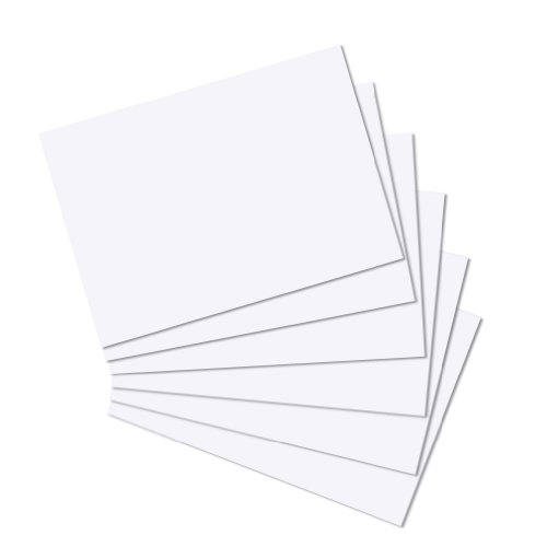 Herlitz 10835809 Karteikarten A4 100 Stück, blanko, weiß und holzfrei
