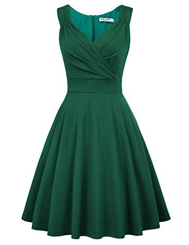 cocktailkleid v Ausschnitt Elegante Kleider Weihnachten Petticoat Kleid 50er Jahre Swing Kleid CL698-13 XL