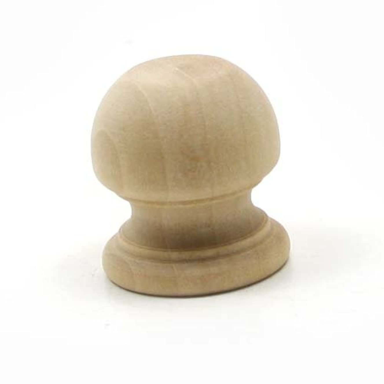 Mylittlewoodshop Pkg of 100 - Finial Dowel Cap - 1-1/16 tall with 1/2 inch hole unfinished wood (WW-DC8005-100)