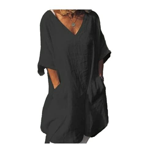 Vestido de mujer retro vestido de niña mini vestido de lino nuevo verano