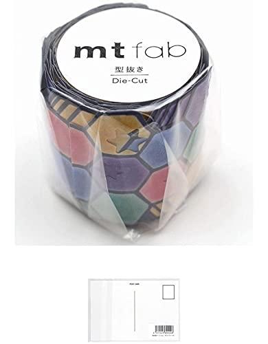 カモ井加工紙 マスキングテープ mt fab 型抜き 星とタイル 幅45mm×3m MTKT1P18 【まとめ買い 5 パック 】+ 画材屋ドットコム ポストカードA