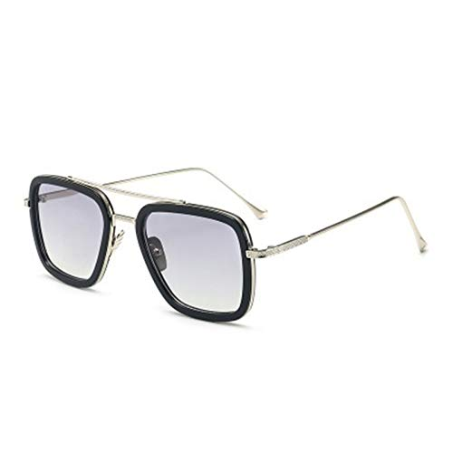 Lucky DuDu Gafas de Sol Deportivas al Aire Libre polarizadas Anti deslumbramiento UV400 Protección Pesca Eyewear Gafas de Sol Ultraligero (Color : Siliver Gray)