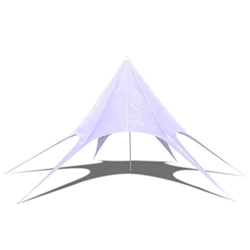 Tidyard Gazebo da Giardino a Stella Esagonal/Pieghevole/Impermeabile/Traspirante/Protezione Raggi UV / 4 x 10m / Bianco